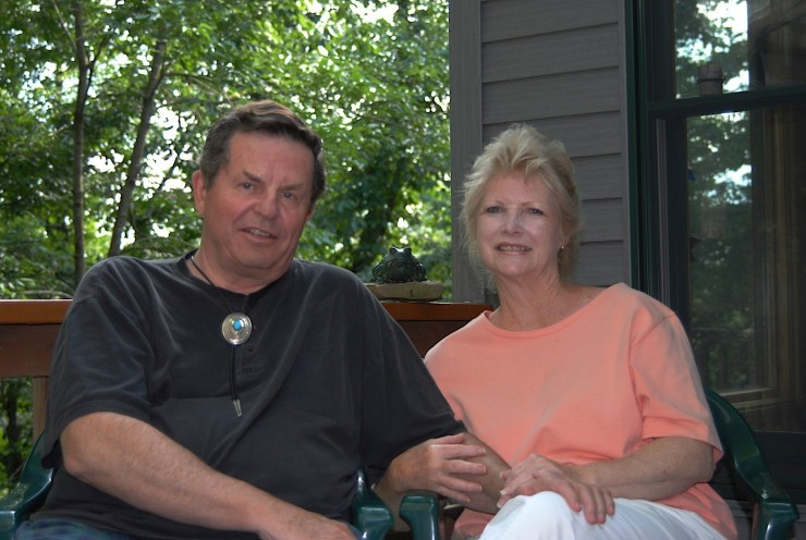 10 With Pat, his wife and partner since 1983